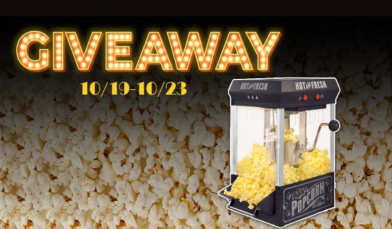 Nostalgia Countertop Popcorn Maker Giveaway