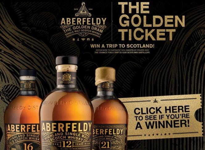 Aberfeldy Golden Ticket Game Sweepstakes