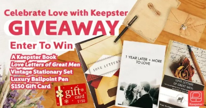 Bookstr Celebrate Love With Keepster Giveaway