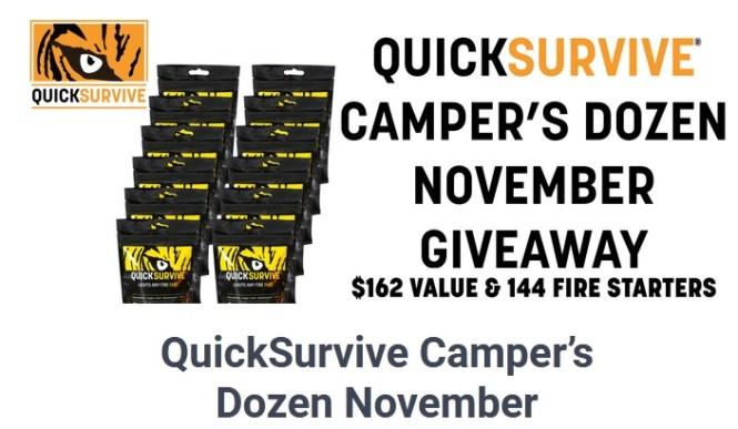 QuickSurvive Camper Dozen Giveaway