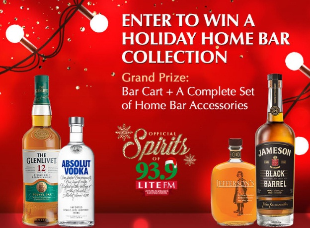 iHeartMedia + Entertainment Pernod Ricard Home Bar Cart And Bar Collection Sweepstakes