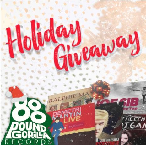 800 Pound Gorilla Holiday Gift Pack Vinyl Sweepstakes