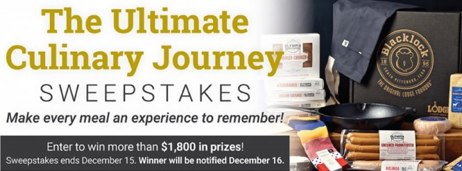 Lodge Manufacturing Lodge Cast Iron Ultimate Culinary Journey Sweepstakes
