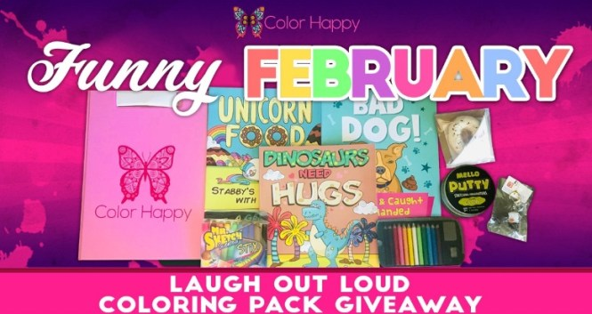 Laugh Out Loud Coloring Pack Giveaway