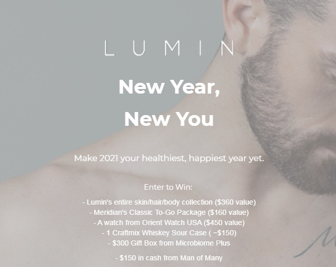 SkinCo LUMIN New Year, New You Sweepstakes