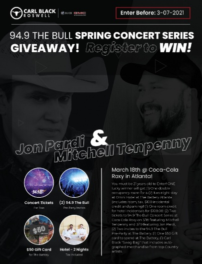 94.9 The Bull Spring Concert Series Contest