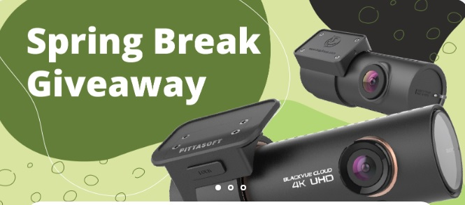 BlackboxMyCar Spring Break 2021 BlackVue DR900S-2CH Giveaway