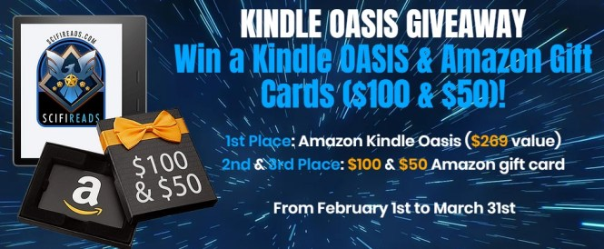Sci-Fi Reads SciFiReads Amazon Kindle Oasis Giveaway