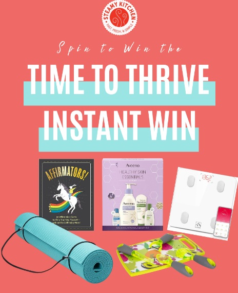 Steamy Kitchen Time To Thrive Instant Win Game Sweepstakes