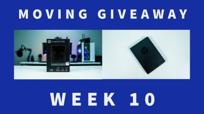 Moving HP P700 1TB Portable Solid State Drive Giveaway
