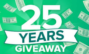 Check Into Cash 25th Anniversary Giveaway