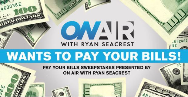 Ryan Seacrests Pay Your Bills Sweepstakes