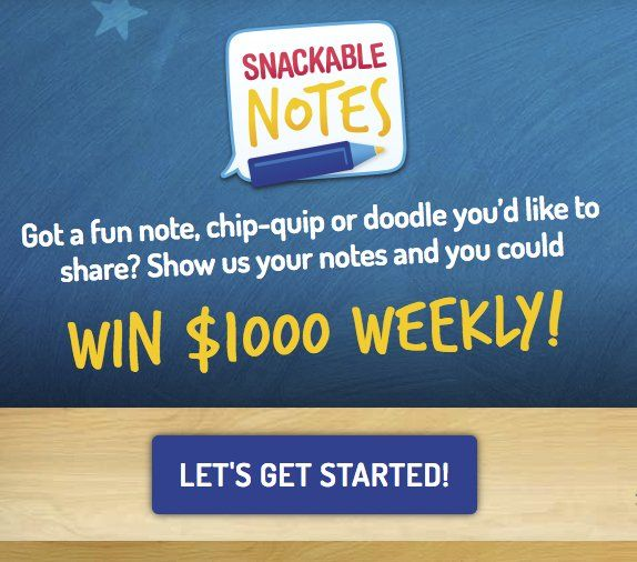 Snackable Notes Sweepstakes