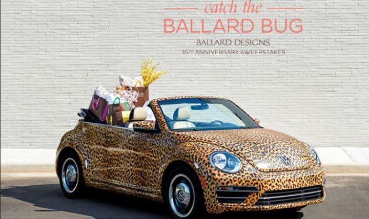 Ballard Designs Catch the Ballard Bug Sweepstakes