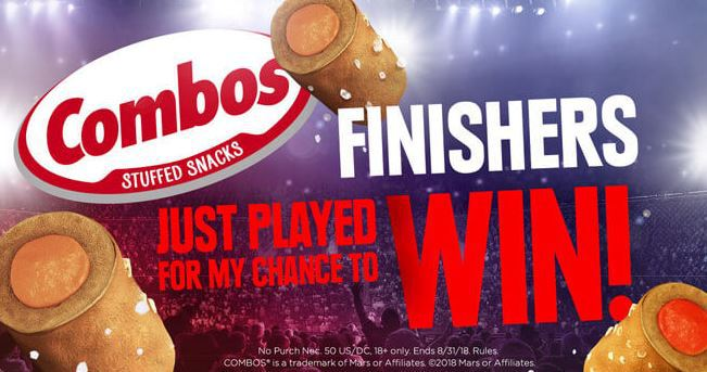 COMBOS Finishers Sweepstakes 2018 - Win WWE Prizes