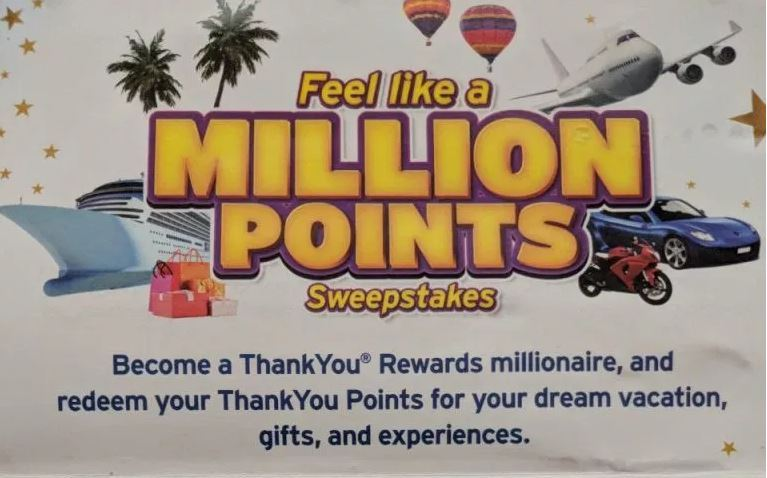 Feel Like A Million Points Sweepstakes