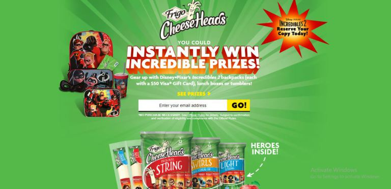Frigo Cheese Heads Make Back to School Incredible Game Sweepstakes