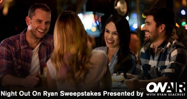 Ryan Seacrest's Night Out On Ryan Sweepstakes 6 2018