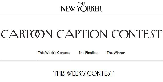 The New Yorker Cartoon Caption Contest 2018