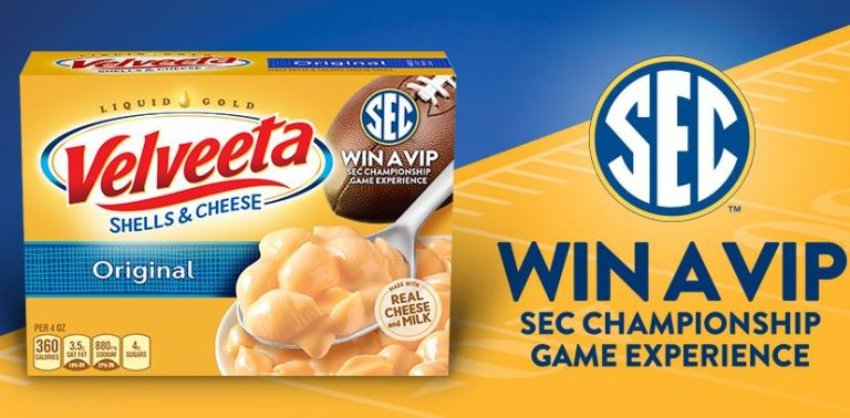 Velveeta SEC Sweepstakes and Instant Win Game