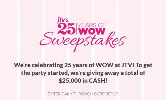 JTV 25 Years of Wow Sweepstakes 2018