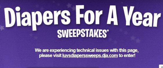 Luvs Diapers for a Year Sweepstakes
