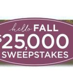 QVC Hello Fall Sweepstakes – Win $25,000 Cash