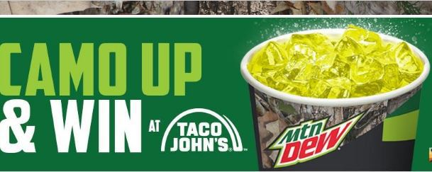 Taco John's Camo Up Sweepstakes