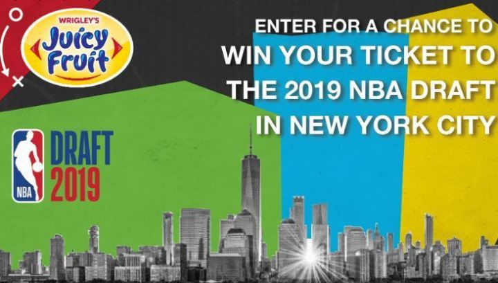 Juicy Fruit x NBA Draft Contest - Win Tic