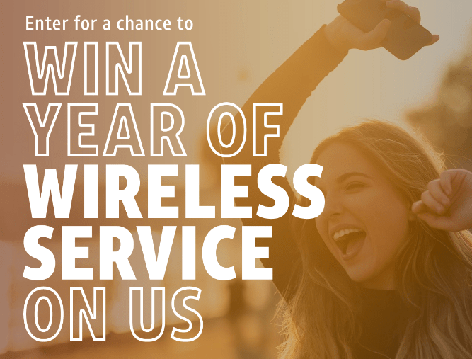 AT & T Wireless Service for a Year Sweepstakes – Win One year of Wireless Service
