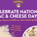 Annie's National Mac & Cheese Day Sweepstakes  – Win Prize