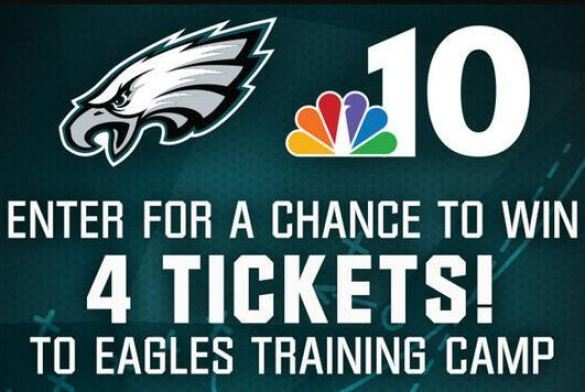 NBC10 Eagles Training Camp Ticket Giveaway