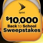 Sprint $10,000 Back to School Sweepstakes – Win Cash