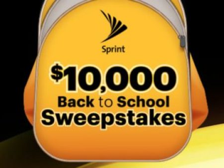Sprint $10,000 Back to School Sweepstakes