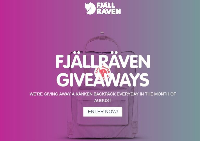 Fjallraven Kanken A Day Giveaway - Win Gifts | ContestsHub