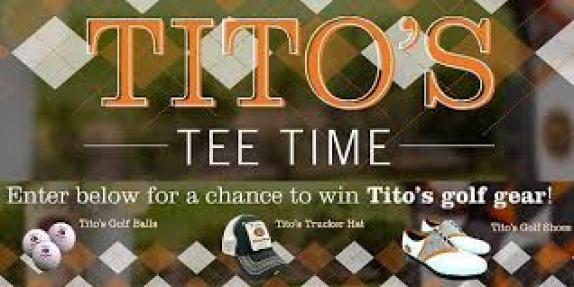 Tito's Handmade Vodka - Tee Time Golf Sweepstakes