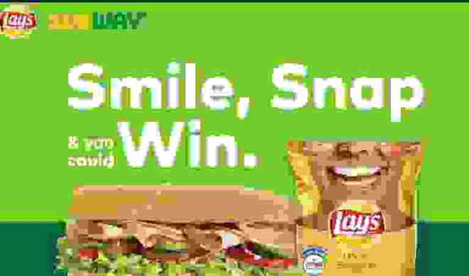 Frito Lay's Subway Smiles Snap & Win Sweepstakes