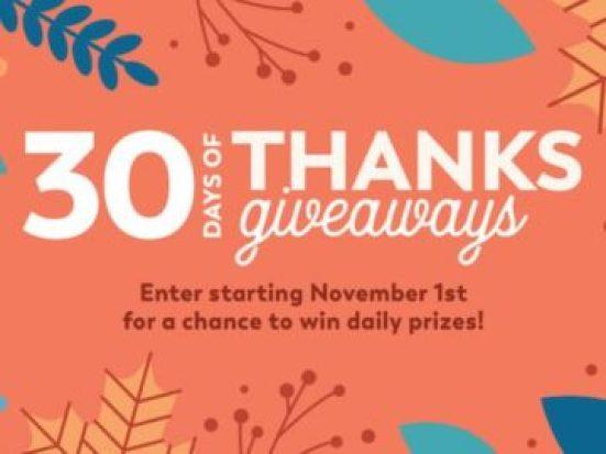 HGTV Magazine 30 Days of Thanks Giveaways
