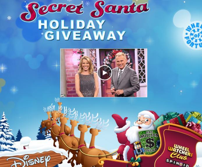 Wheel Of Fortune Secret Santa Holiday Giveaway