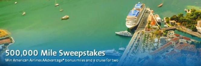American Airlines 500000 Miles Sweepstakes – Win 500,000 AAdvantage Miles