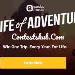 Exodus Life of Adventure Sweepstakes (lifeofadventureusa.exodustravels.com)