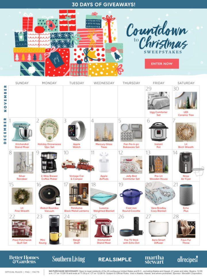 BHG Countdown To Christmas Sweepstakes