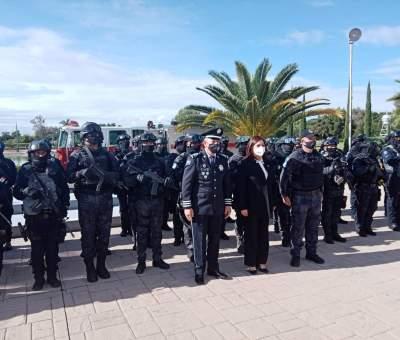 Rinden homenaje a elementos de la corporación de policía de Celaya que han perdido la vida en el cumplimiento de su deber