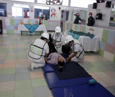 Personal de Protección Civil de Celaya participó en primer simulacro nacional 2021