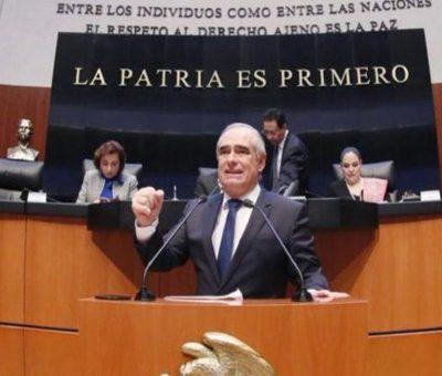 Reta Julen Rementería a cualquier legislador de Morena a condenar al narcotráfico y crimen organizado