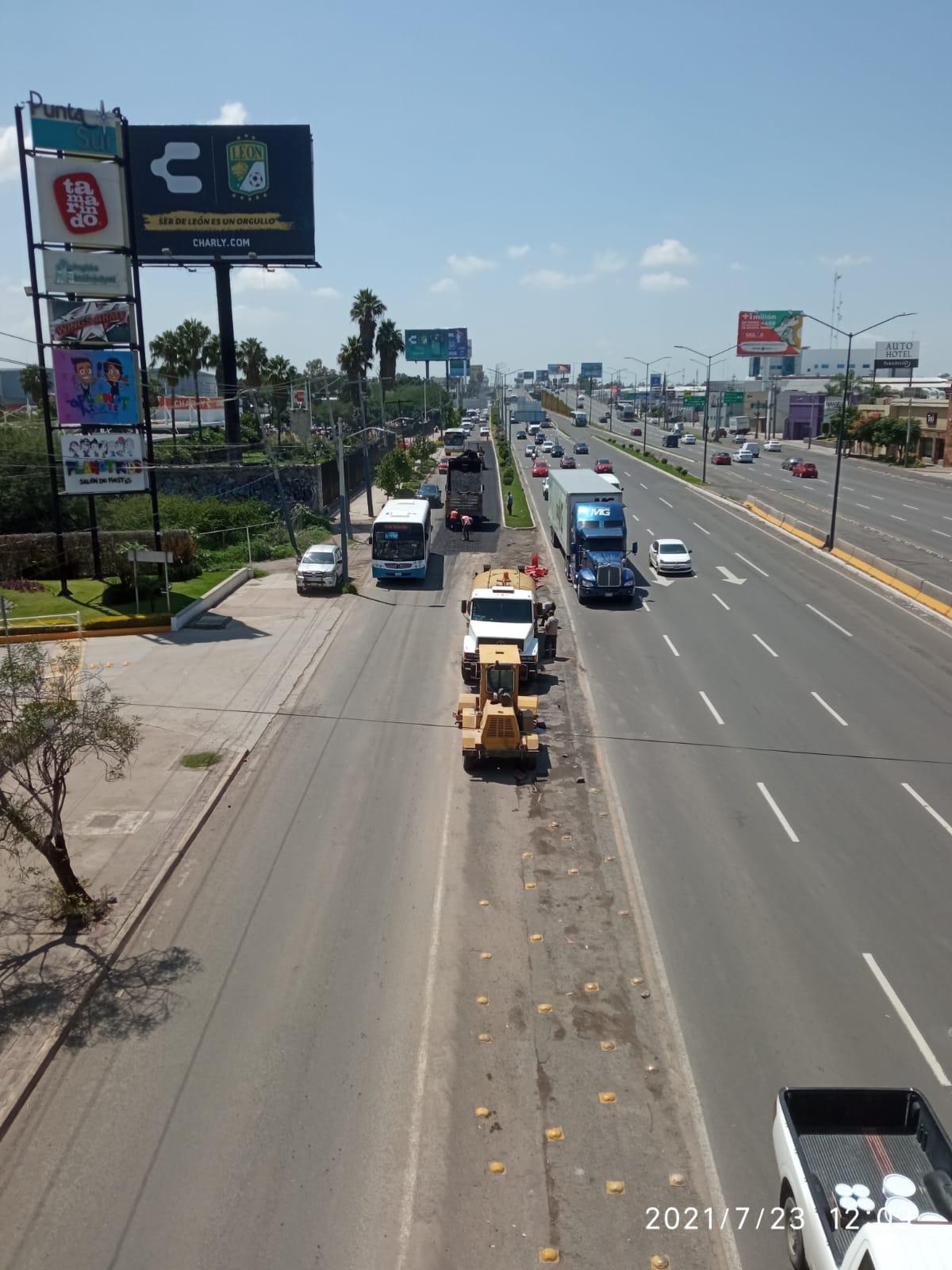SAPAL abre circulación de acceso lateral del Boulevard Delta con Morelos