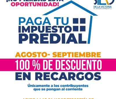 Invitan a silaoenses a aprovechar el 100% de descuento en recargos del impuesto predial durante agosto