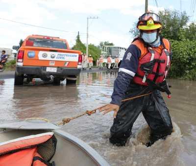 Siguen acciones del Consejo Estatal de Protección Civil del Estado en zonas afectadas por inundaciones en Abasolo