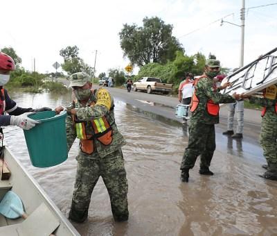 Se mantienen las acciones transversales de atención en Abasolo tras inundaciones