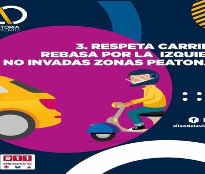 Exhortan a motociclistas a respetar el Reglamento de Tránsito en Silao